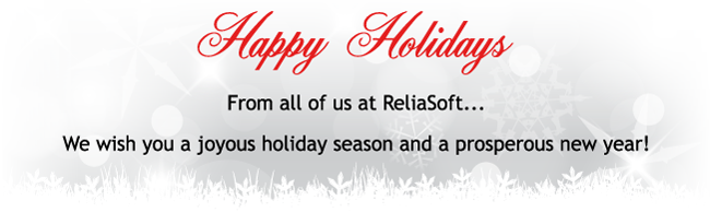 From all of us at ReliaSoft... Happy Holidays!